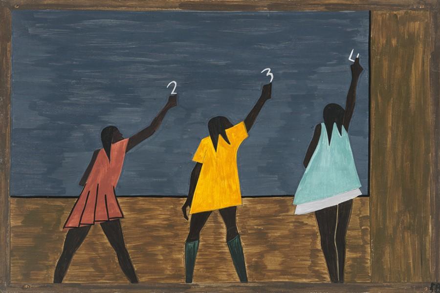 تابلوي پنجاه و هشتم از سري مهاجرت جيكاب لارنس
