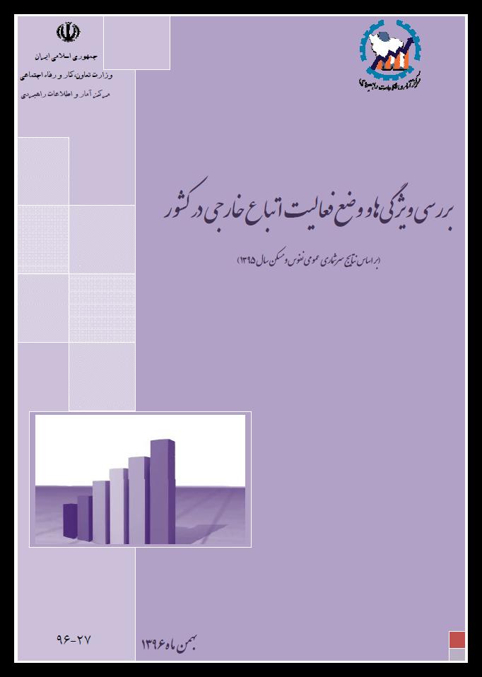 بررسی ویژگیها و وضع فعالیت اتباع خارجی در کشور