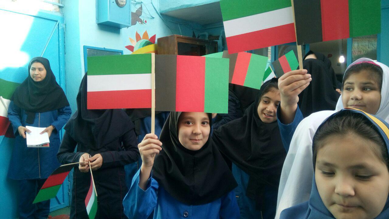 دانشآموزان ایرانی و افغانستانی در کنار هم