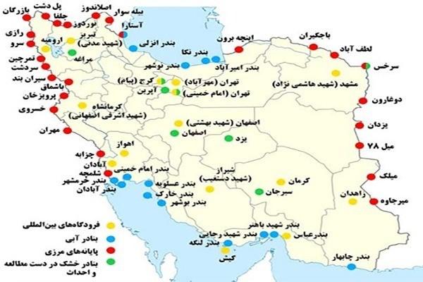 تجارت ایران و افغانستان بندرگاه های ایران