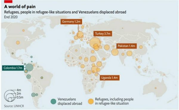 پناهجویان در جهان